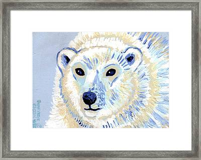 Polar Bear Framed Print by Genevieve Esson