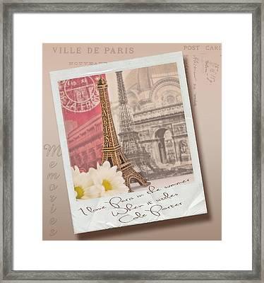 Polaroid Memories Framed Print by Sandra Rossouw