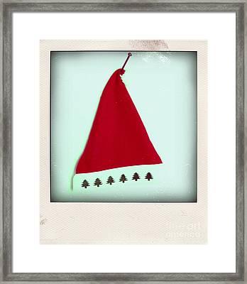 Polaroid Of A Christmas Hat Framed Print by Bernard Jaubert