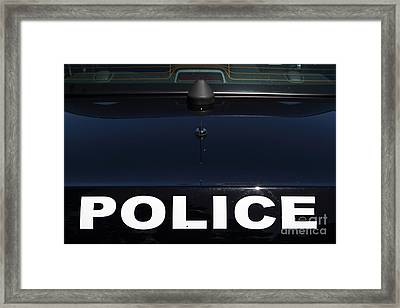 Police . 7d15883 Framed Print by Wingsdomain Art and Photography