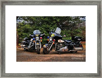 Police Motorcycles Framed Print by Paul Ward