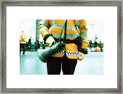Police Officer Framed Print by Kevin Curtis