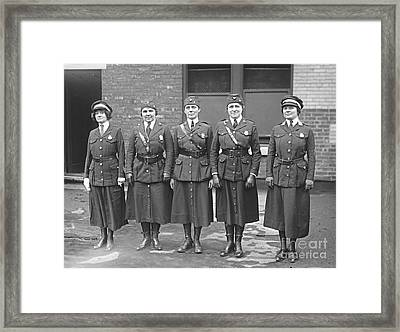 Policewomen Framed Print by Padre Art