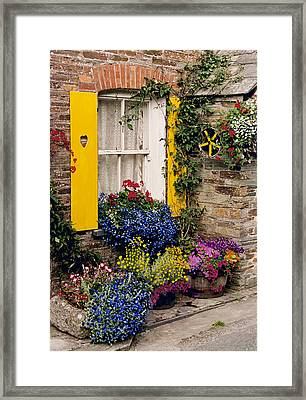 Park Farm Cottages Framed Print by John Galbo