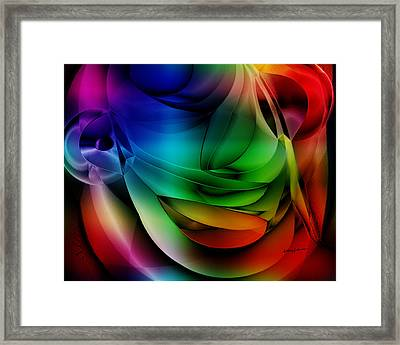Polychromatic Abstract Framed Print by Anthony Caruso