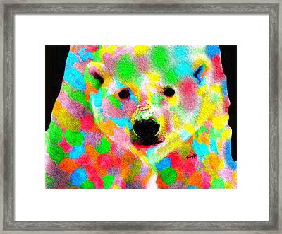 Polychromatic Polar Bear Framed Print by Anthony Caruso