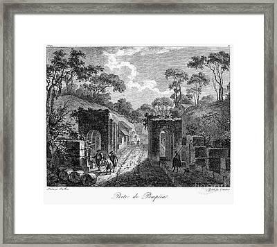 Pompeii: Herculaneum Gate Framed Print by Granger