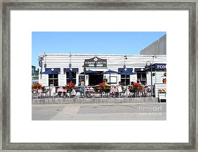 Pompeis Grotto Restaurant . Fishermans Wharf . San Francisco California . 7d14197 Framed Print by Wingsdomain Art and Photography