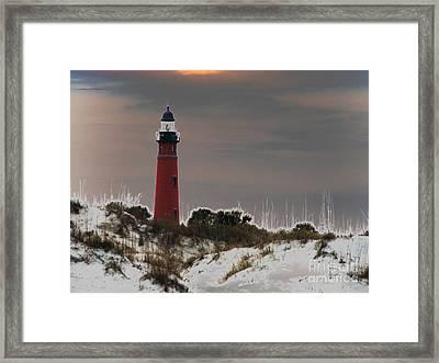 Ponce Deleon Light House Framed Print by Kathy Flugrath Hicks