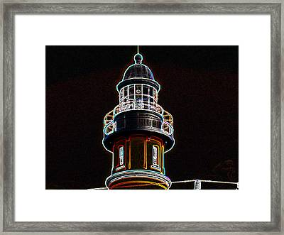 Ponce Inlet Lighthouse Framed Print by Dennis Dugan