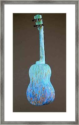 Pono Concert Ukulele Framed Print by Jean Groberg