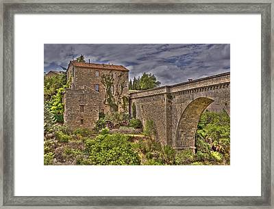 Pont De Minerve Framed Print by Rod Jones