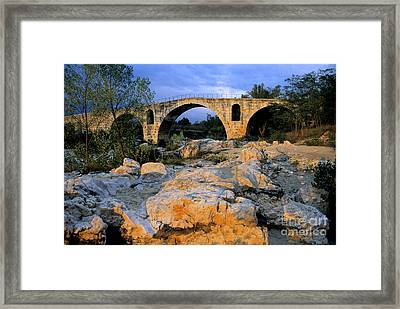 Pont Julien. Luberon. Provence. France. Europe Framed Print by Bernard Jaubert
