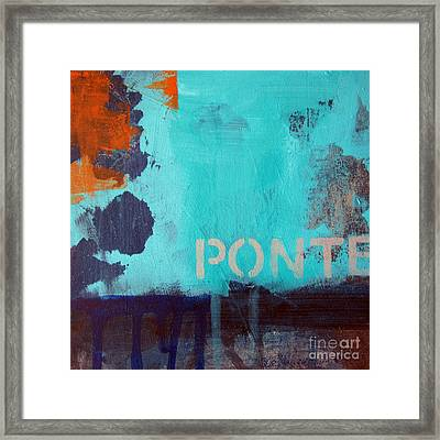 Ponte Framed Print by Linda Woods