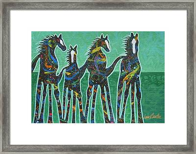 Pony Pastures Framed Print by Lance Headlee