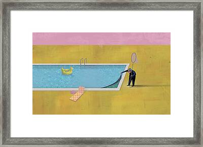 Pool Animal 01 Framed Print by Dennis Wunsch