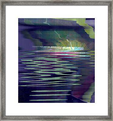 Pool Of Reflections And Memories Framed Print by Anne-Elizabeth Whiteway
