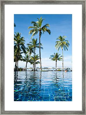 Poolside Framed Print by Atiketta Sangasaeng
