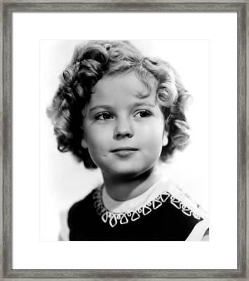 Poor Little Rich Girl, Shirley Temple Framed Print by Everett