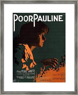 Poor Pauline Framed Print by Mel Thompson