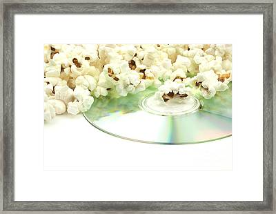 Popcorn And Movie  Framed Print by Blink Images