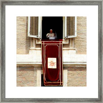 Pope Benedict Xvi B Framed Print by Andrew Fare