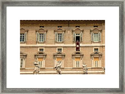 Pope Benedict Xvi C Framed Print by Andrew Fare