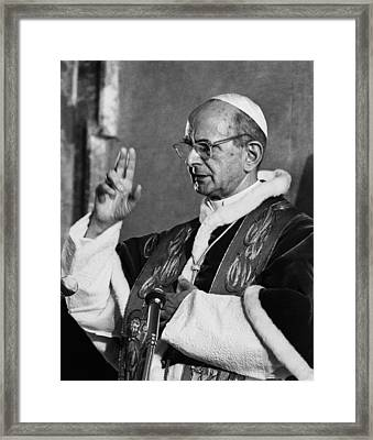Pope Paul Vi, Circa Early 1970s Framed Print by Everett