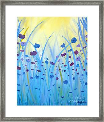 Poppies At Twilight Framed Print by Stacey Zimmerman