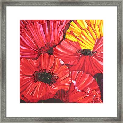 Poppies Fantasy Framed Print by Gabriela Stavar