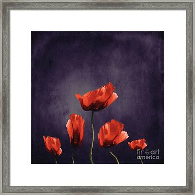 Poppies Fun 03b Framed Print by Variance Collections