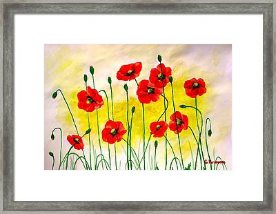 Poppies Framed Print by Sonya Ragyovska