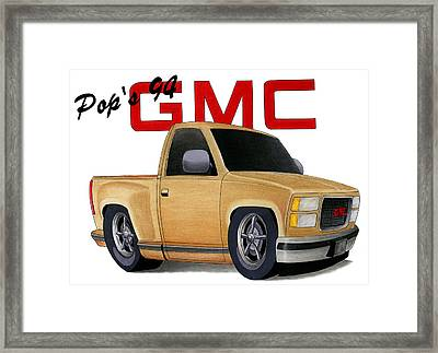 Pop's Gmc Framed Print by Lyle Brown