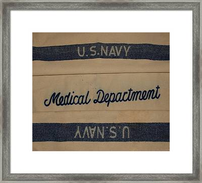 Pops W W I I Navy Blanket Framed Print by Rob Hans