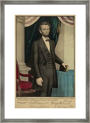 Popular Print Of President Abraham Framed Print by Everett