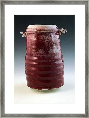 Porcelain Cylinder Framed Print by Alejandro Sanchez