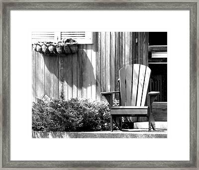 Porch Buddies Framed Print by Michael Swanson