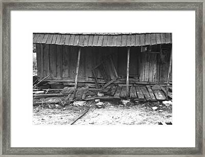 Porch Of A Barely Standing Home Framed Print by Everett
