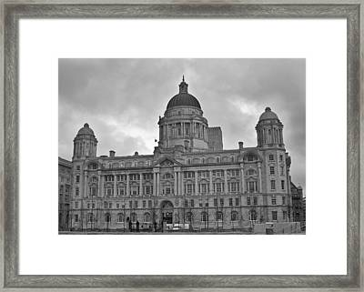 Port Of Liverpool Building Framed Print by Georgia Fowler