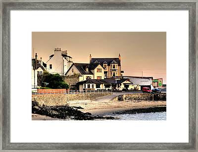 Port Patrick Framed Print by Barry R Jones Jr