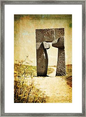 Portal - La Coruna Framed Print by Mary Machare