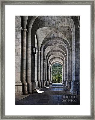 Portico From The Valley Of The Fallen Framed Print by Mary Machare