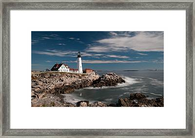 Portland Head Light 19482c Framed Print by Guy Whiteley