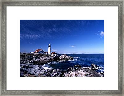 Portland Head Offshore Framed Print by Skip Willits