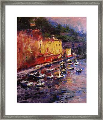 Portofino At Sundown Framed Print by R W Goetting