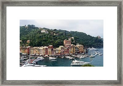 Portofino Dreaming Framed Print by Marilyn Dunlap