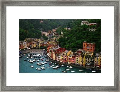 Portofino Framed Print by John Galbo