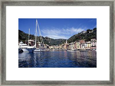 Portofino On The Italian Riviera Framed Print by Peter Phipp