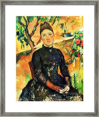 Portrait Madame Cezanne Framed Print by Pg Reproductions
