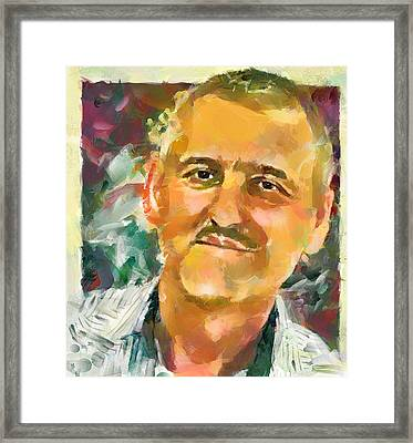 Portrait Of A Painter Framed Print by Yury Malkov